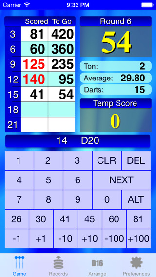 Hard Darts Scorer no Ads