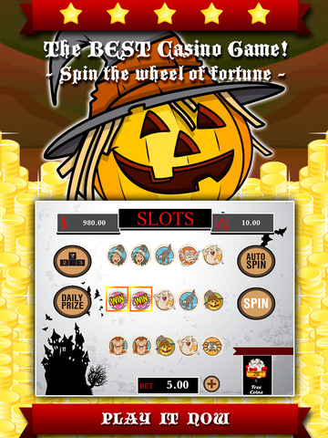 AAA Aardwolf Halloween Slots PRO - Spin lucky wheel to win epic gold price during the xtreme party night-ipad-0