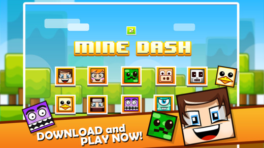 Mine Dash - The Impossible Block Plus Game: Minecraft Edition