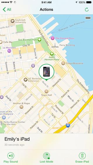 Найти iPhone Screenshot