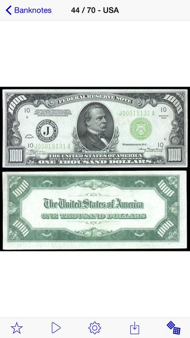Banknotes iPhone Screenshot 1