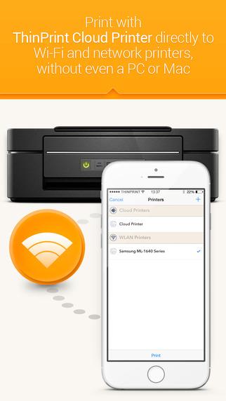 ThinPrint Cloud Printer – Print directly via WiFi WLAN or via cloud to any printer