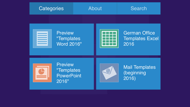 German Templates for Microsoft Excel 2016