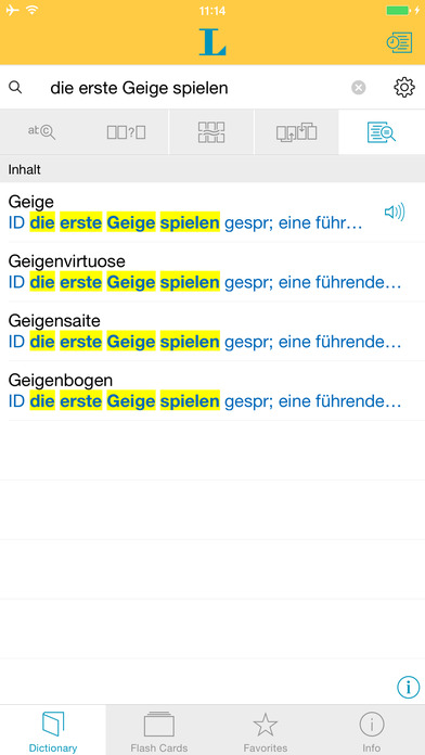 German Learner's Dictionary Langenscheidt iPhone Screenshot 2