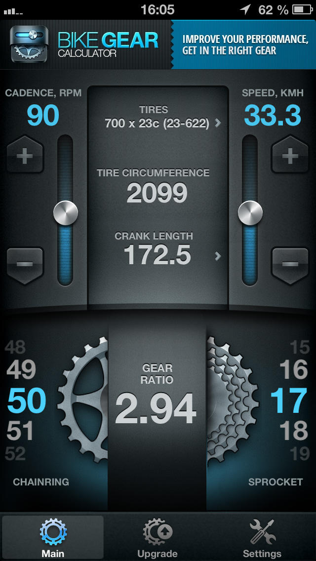 Bike Gears Free - Bike Gear Calculator free, Cycling Gear Calculator Free screenshot