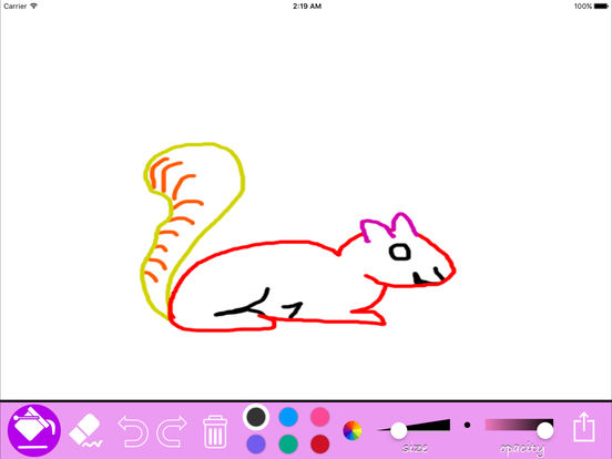 Kids drawing App - Simple Draw & Coloring Tool For iPad iPad Screenshot 2