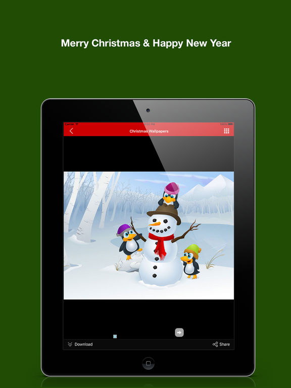 ipad screenshot 5 christmas background wallpaper new year greeting