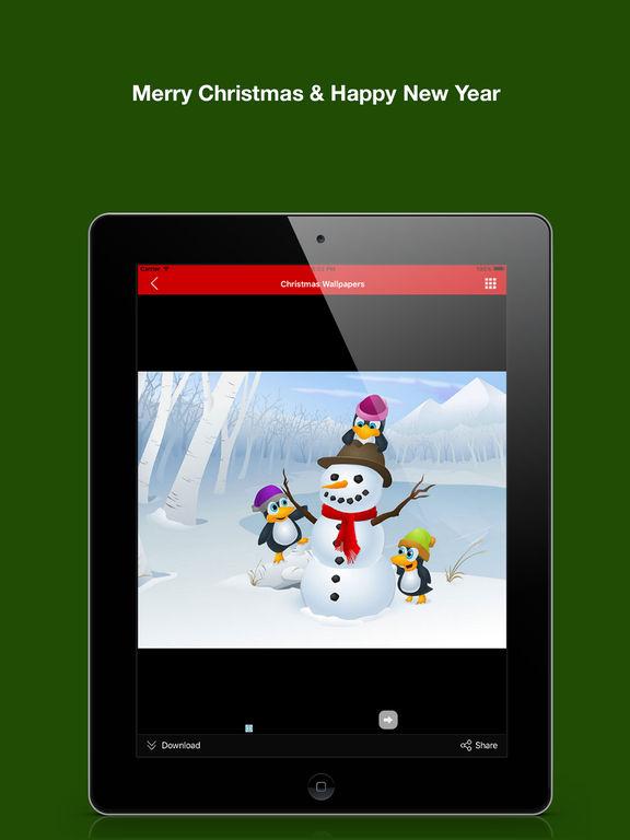 ipad screenshot 5 christmas background wallpaper new year greeting