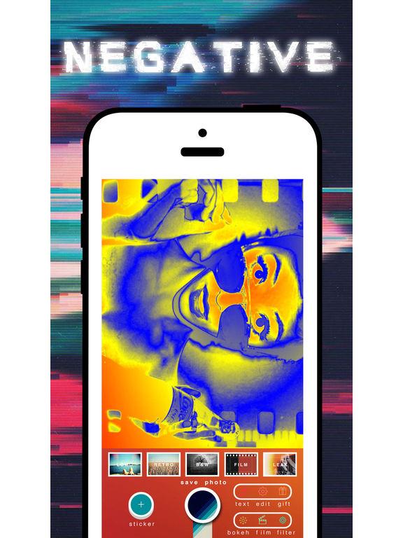 negative camera - negative filter me color inverter false color filters Screenshots