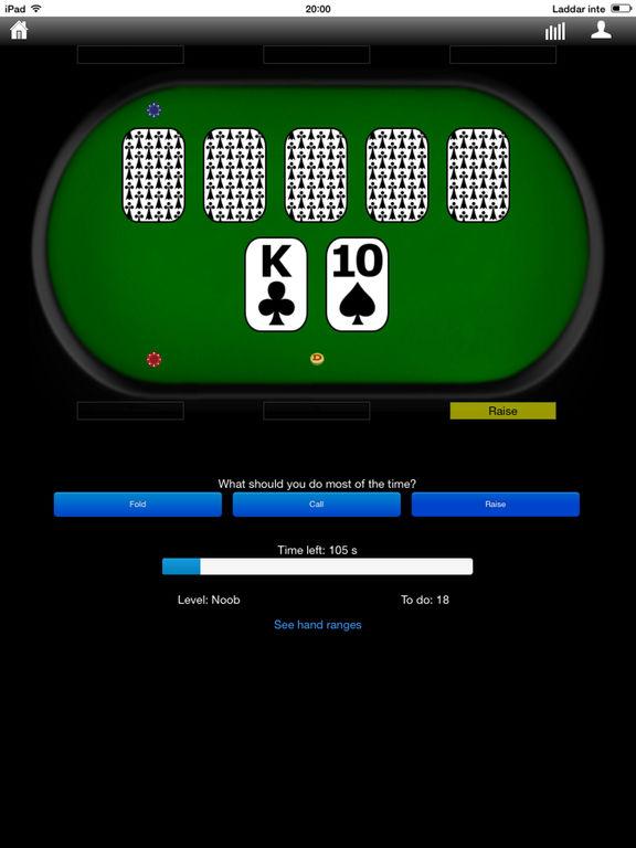 Poker odds trainer
