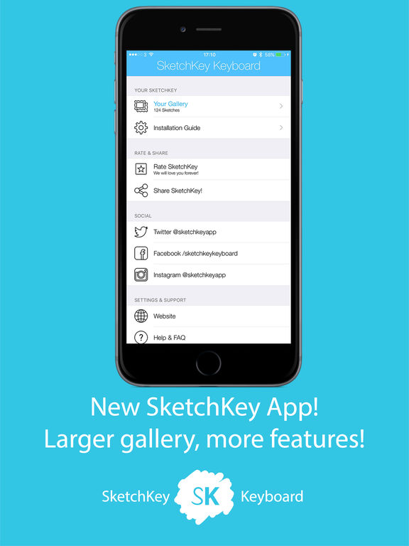 sc1024x768 SketchKey App will make you draw your Emotions on the keyboard, direct when messaging [ App ]