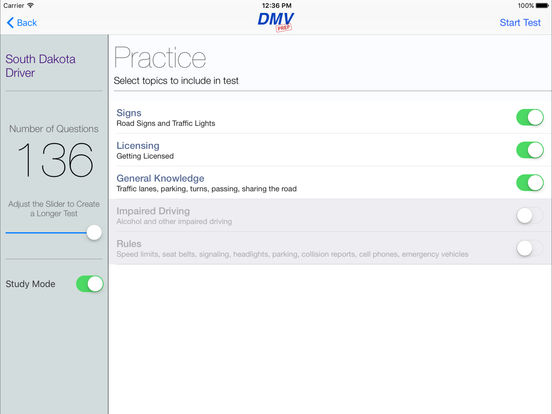 DMV Test Prep - South Dakota iPad Screenshot 2