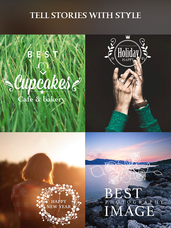Pro Collage Creator – Add beautiful text & artwork to photos Screenshots