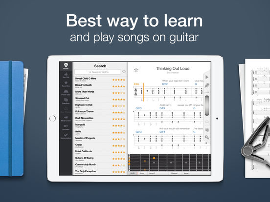 Tab Pro: learn, hear & play multitrack guitar tabs Screenshots