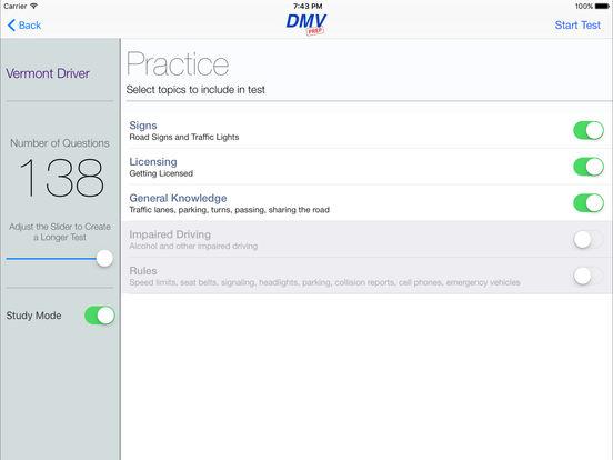DMV Test Prep - Vermont iPad Screenshot 2