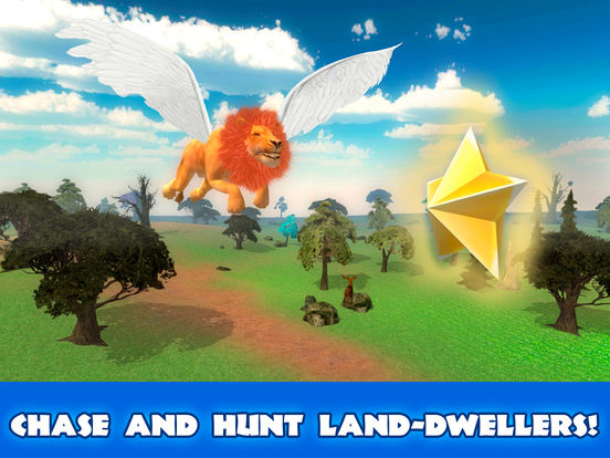 Wild Flying Lion Simulator 3D Full screenshot 7
