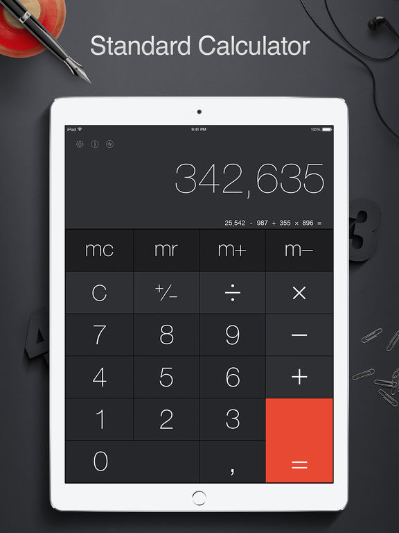 Screenshot #1 for Calculator Pro for iPad Free - Smart Calculator