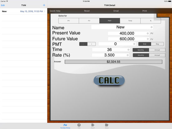 Time Value of Money iPad Screenshot 1