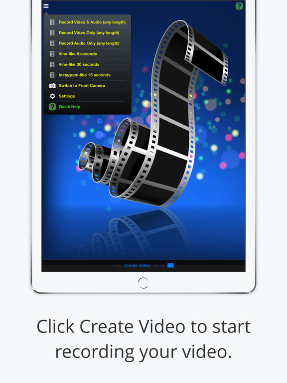 iSnapVideo - Tap-and-hold short video recording Screenshots