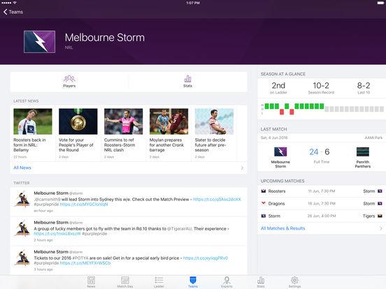 NRL Rugby League Live HD 2011 iPad Screenshot 3