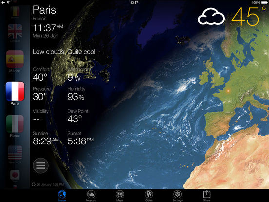 3D Earth - weather widget world clock USA forecast Screenshots