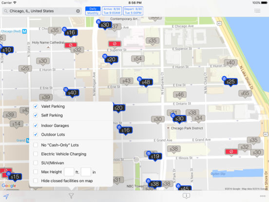 Best Parking - Compare Prices, Rates, Spots, and Locations for City and Airport Garages and Lots iPad Screenshot 5