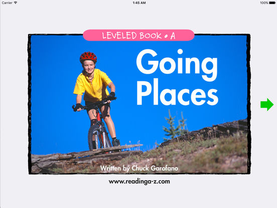 Going Places - LAZ Reader [Level A-kindergarten] iPad Screenshot 1