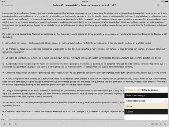 Declaración Universal de los Derechos Humanos - AudioEbook iPad Screenshot 1
