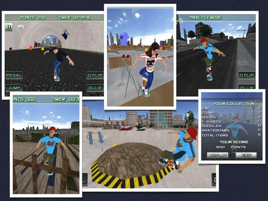 Skateboarding 3D Skater Die Hard Skate Board Game By ...