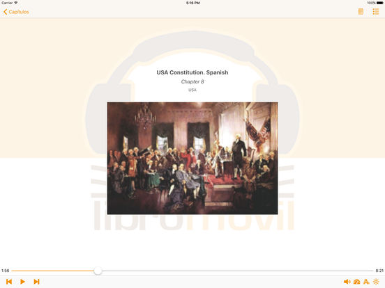 USA Constitution. Spanish Audiobook iPad Screenshot 2