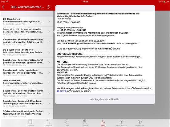 ÖBB - SCOTTY mobil iPad Screenshot 5