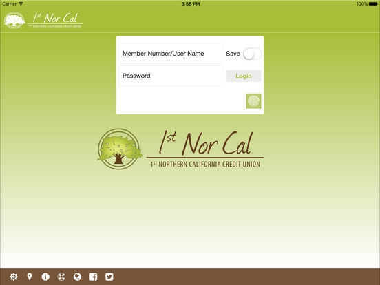 Contra Costa Federal Credit Union Mobile iPad Screenshot 1