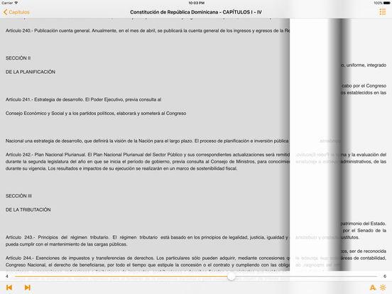 Constitución de República Dominicana iPad Screenshot 1