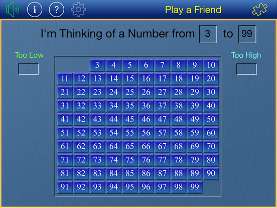Thinking of a Number iPad Screenshot 2