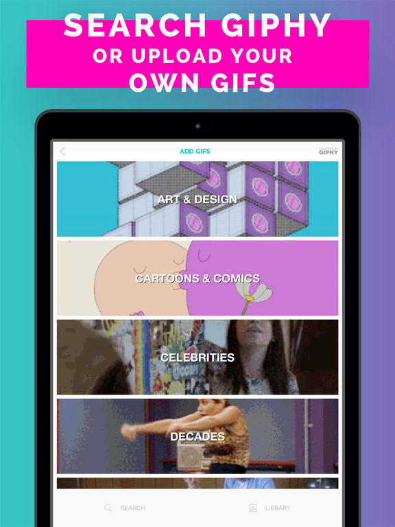 Screenshots of Gifx – Best Gif Editor To Make Art for iPad
