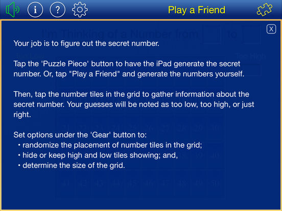 Thinking of a Number iPad Screenshot 5