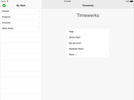 Timewerks: Mobile Billing iPad Screenshot 1