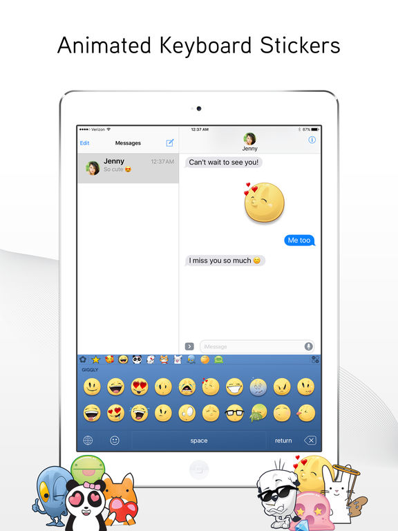 Screenshots of Emoji> for iPad
