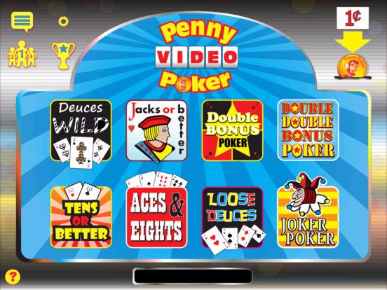 Penny Poker iPad Screenshot 1
