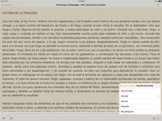 El Príncipe y El Mendigo - Mark Twain iPad Screenshot 1