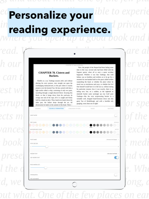Hyphen - eBook Reader for ePub Screenshots