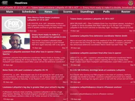 Louisiana Lafayette Ragin' Cajuns College SuperFans iPad Screenshot 1