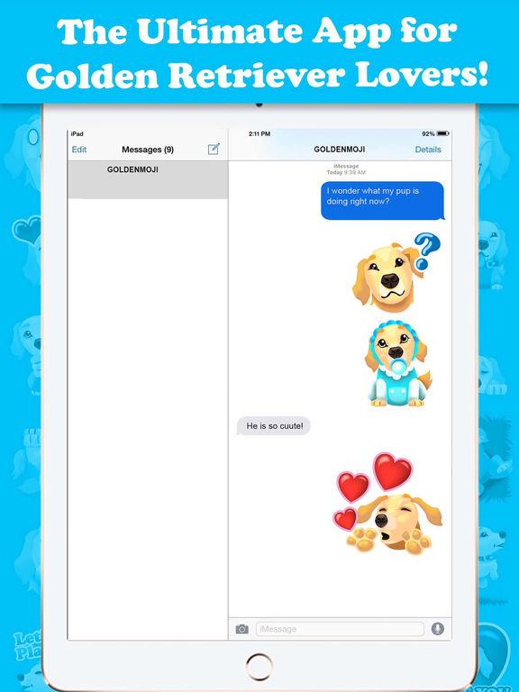 GoldenMoji - Golden Retriever Emojis Screenshots