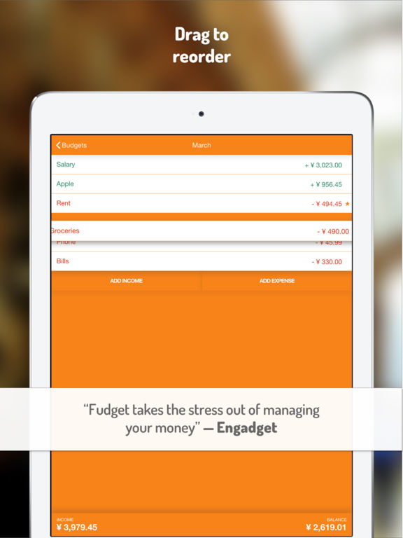 Fudget: budget planner & personal finance tracker screenshot