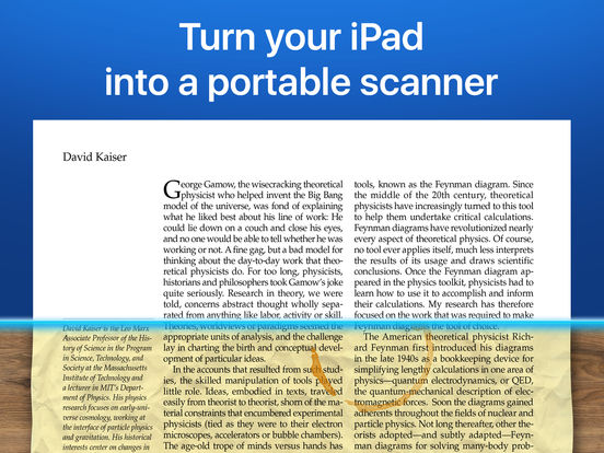 Scanner Pro - PDF document scanner app with OCR iPad