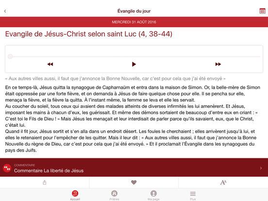 Prions en Église : une appli dédiée à la prière quotidienne iPad Screenshot 2