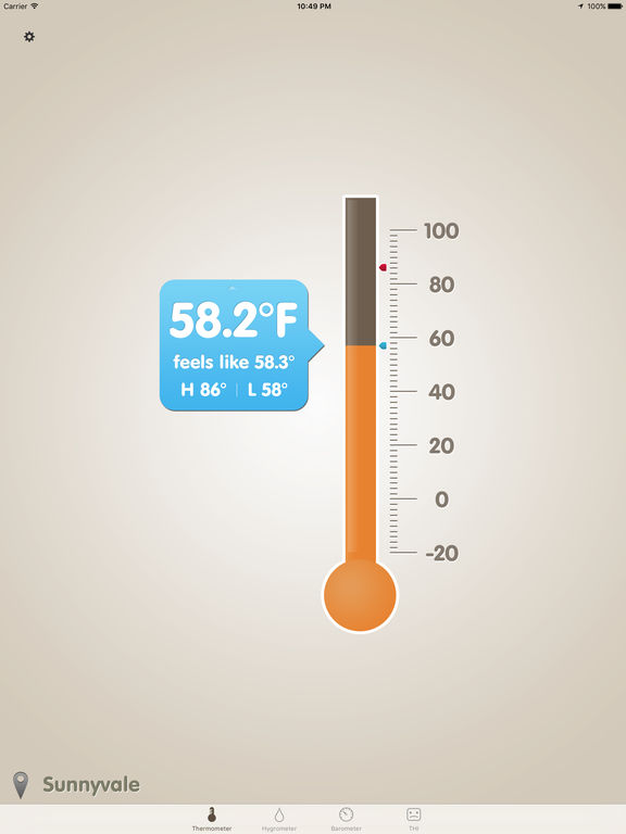 Thermo-Hygrometer (Barometer, Feels Like, THI) Screenshots