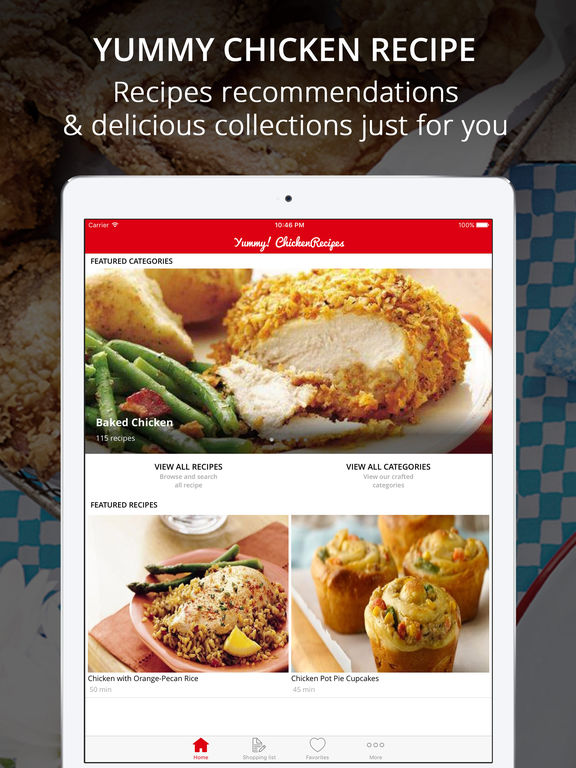Yum! Chicken Recipes Pro - Cook And Learn Guide Screenshots