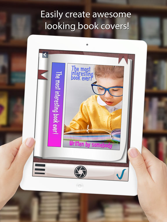 How To Make A Book Cover App : Book cover maker create and share with friends on the