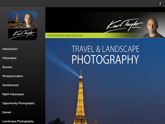 Travel & Landscape Photography by Karl Taylor iPad Screenshot 1